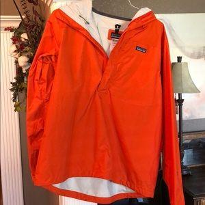Patagonia 1/4 zip hooded rain jacket